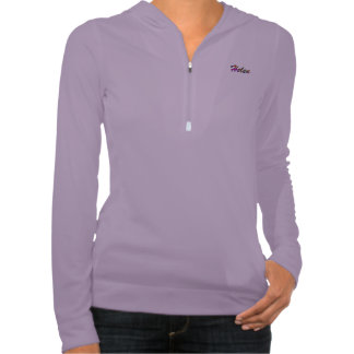 Camiseta larga púrpura de la manga de Helen