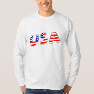 Camiseta larga Spangled estrella patriótica de la Playeras