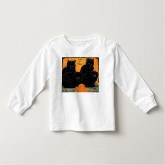 Camiseta largo-envuelta niño de Halloween de los Poleras