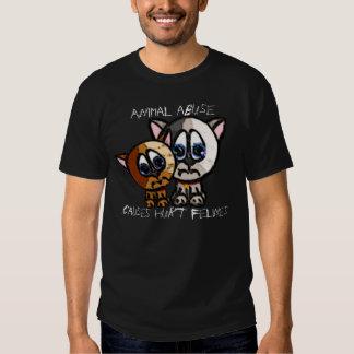 Camiseta lastimada de la oscuridad de Felines Playera
