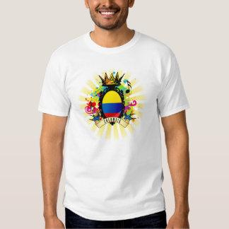 Camiseta latina de la música de Colombia onza Remera