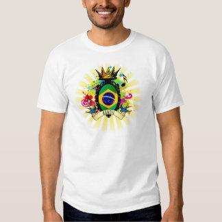 Camiseta latina de la música del Brasil onza Poleras