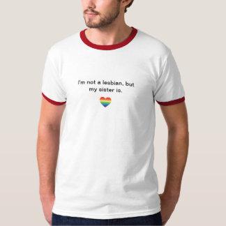 Camiseta lesbiana del orgullo de la hermana playera