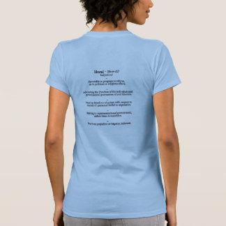 Camiseta liberal de la definición de diccionario