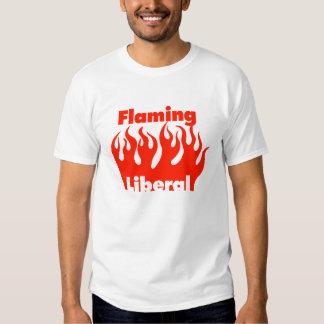 Camiseta liberal llameante playera