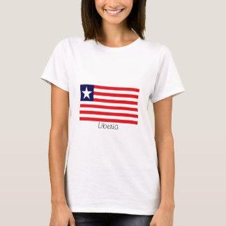 Camiseta liberiana de la bandera de Liberia