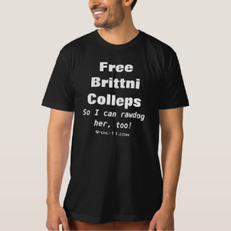 Camiseta libre de Brittni Collups del funcionario