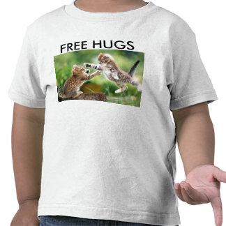 Camiseta libre de los abrazos del niño