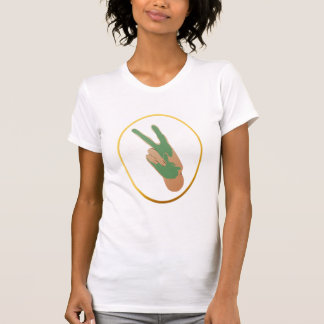 Camiseta libre del óvalo del oro de Irán Playera