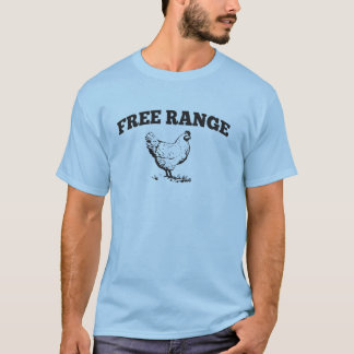 Camiseta libre del pollo de la gama