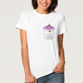 Camiseta ligera rosada y púrpura del dragón lindo playera