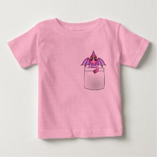 Camiseta ligera rosada y púrpura del dragón lindo playeras