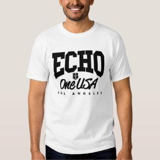 Camiseta ligera torcida de Echo1USA Playera