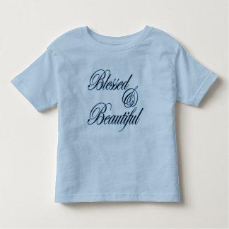 Camiseta linda bendecida y hermosa para los chicas