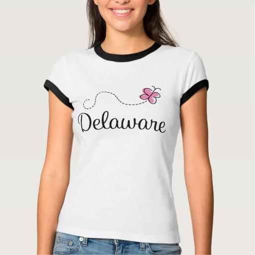 Camiseta linda de Delaware de la mariposa Remera