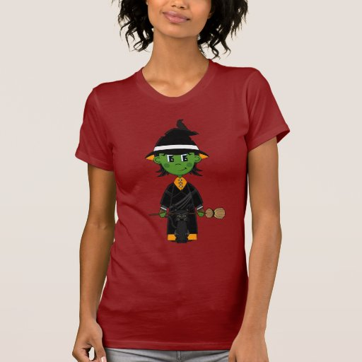 Camiseta linda de Halloween de la bruja