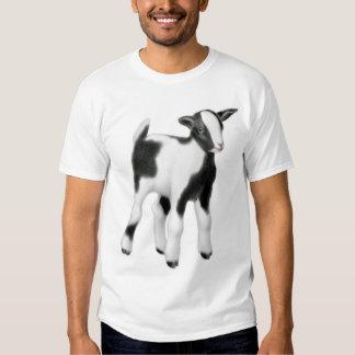 Camiseta linda de la cabra del bebé polera