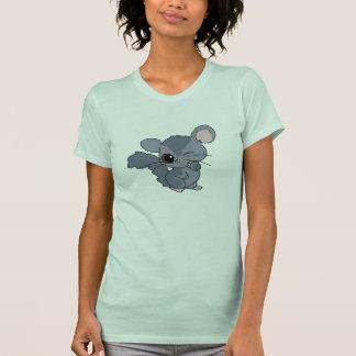 Camiseta linda de la chinchilla