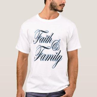 Camiseta linda de la fe y de la familia para los