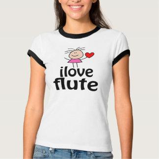 Camiseta linda de la flauta del amor de I Playera