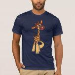 Camiseta linda de la jirafa del bebé del dibujo