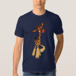 Camiseta linda de la jirafa del bebé del dibujo playera