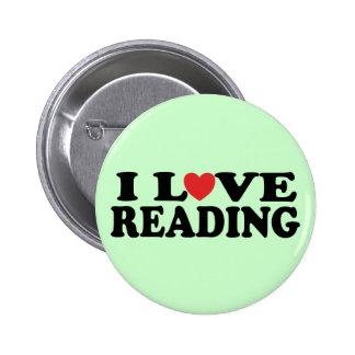 Camiseta linda de la lectura del amor de I Pin Redondo 5 Cm