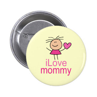 Camiseta linda de la mamá del amor de I Pin Redondo 5 Cm