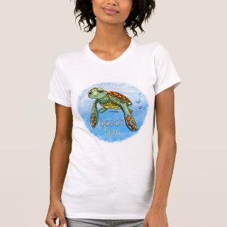 Camiseta linda de la tortuga de mar poleras