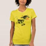 Camiseta linda de las mujeres de la vaca del dibuj