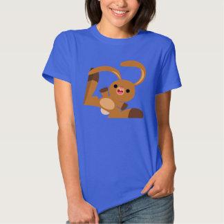 Camiseta linda de las mujeres del conejo del remeras