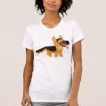 Camiseta linda de las mujeres del perro de pastor playeras