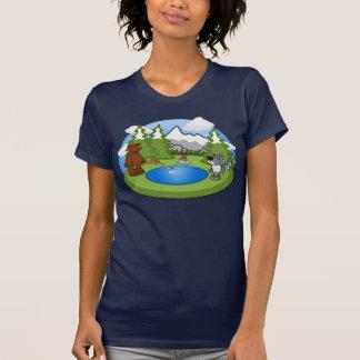 Camiseta linda de las señoras de la fauna