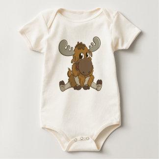 Camiseta linda de los alces del bebé