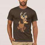 Camiseta linda de los ciervos del dibujo animado