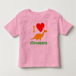 Camiseta linda de los dinosaurios del amor de I Camisas