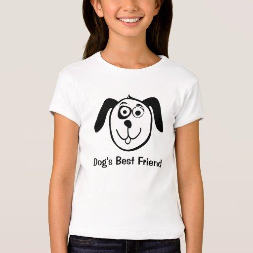 Camiseta linda de los niños con el dibujo animado playeras