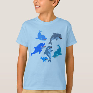 Camiseta linda de los niños de la vaina del delfín remera
