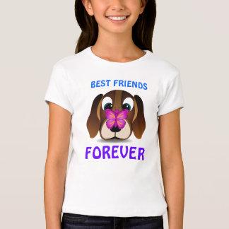 Camiseta linda de los niños de los mejores amigos playeras