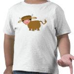 Camiseta linda de los niños del buey del dibujo an