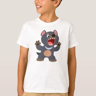 Camiseta linda de los niños del diablo tasmano del