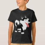 Camiseta linda de los niños del husky siberiano