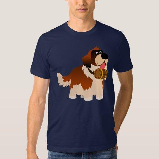 Camiseta linda de St Bernard del dibujo animado Remeras
