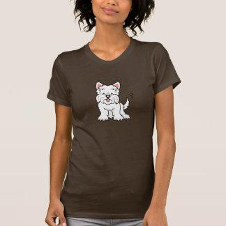 Camiseta linda de Westie del dibujo animado