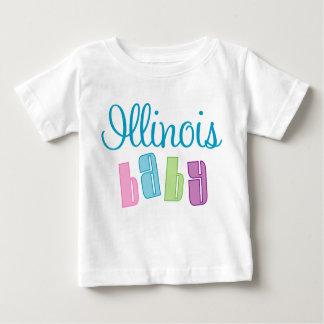 Camiseta linda del bebé de Illinois