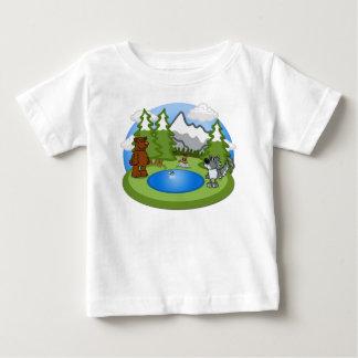 Camiseta linda del bebé de la fauna