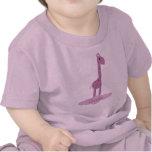 Camiseta linda del bebé de la jirafa
