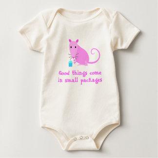 Camiseta linda del bebé de la rata mamelucos