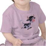 Camiseta linda del bebé de la vaca del dibujo anim