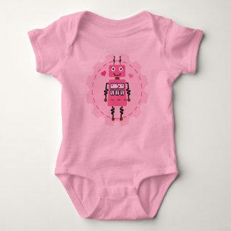 Camiseta linda del bebé de los chicas del rosa del camisas